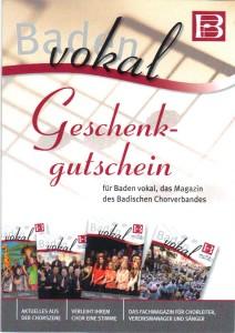 Gutschein Baden-vokal